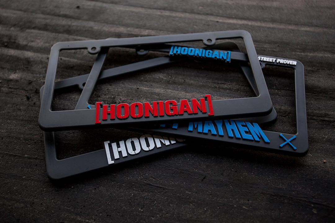 Wrap your plate proper. Just some of the many styles of license plate frames on #hooniganDOTcom.
