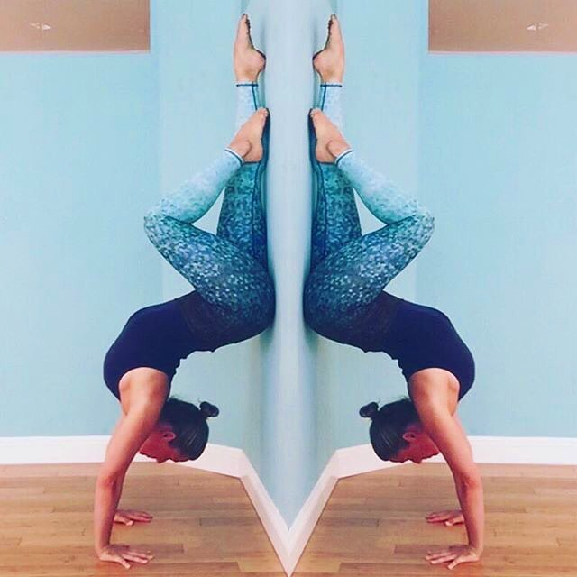 "FAB WOMAN FRIDAY continues... #repost @gigiyogini ""Hallowback Handstand, I'll find you again one day"""