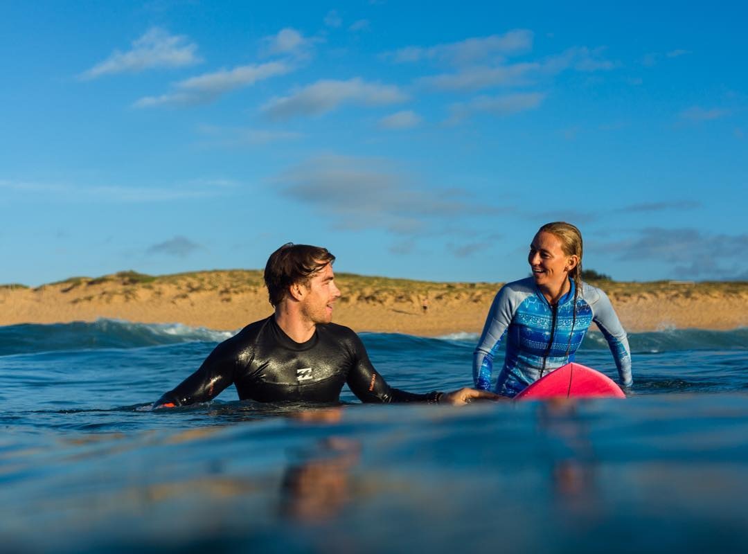 morning surf with @alisonsadventures and food extraordinaire @hayden_quinn
