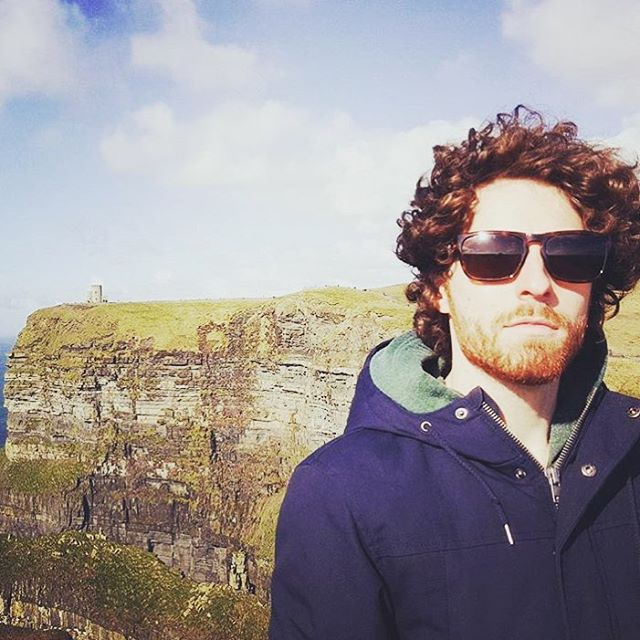 Sunny day in #Ireland at the Cliffs of Moher is the perfect time for #waveborn #sunglasses #findthesun #givesight #medmen #malemodel @jay2weir
