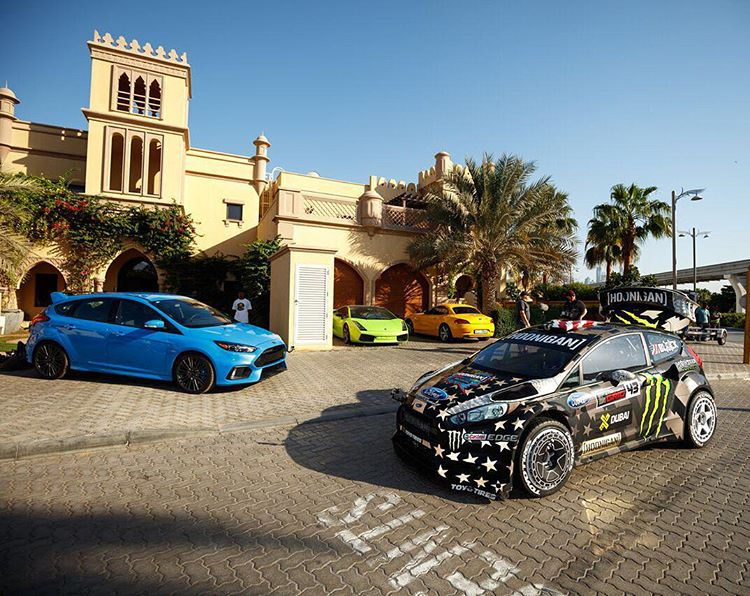 I'll take the front two over the back two any time, any day. #squadup #FordFocusRS #FordFiesta #RX43 #GymkhanaEIGHT #PalmJumeirah #Dubai