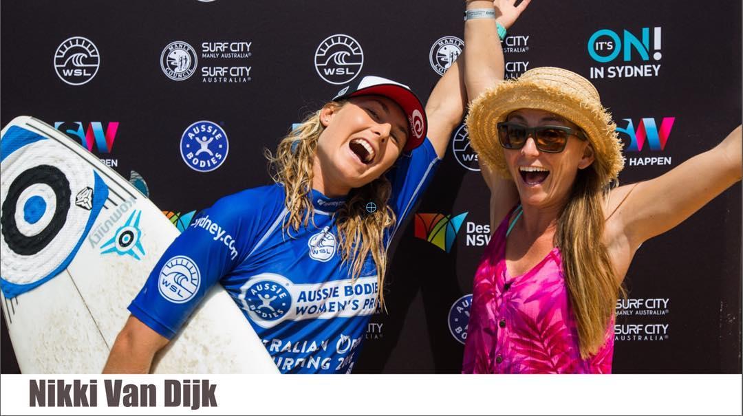 Congrats @nikkivandijk on winning the @ausopenofsurf