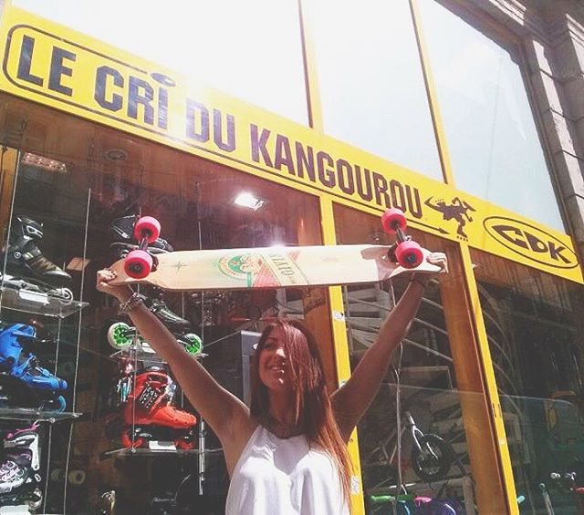 Flavie after getting her #LGCBoard at @cdk_longskates in Lyon, France! Where did you get yours? Tell us!