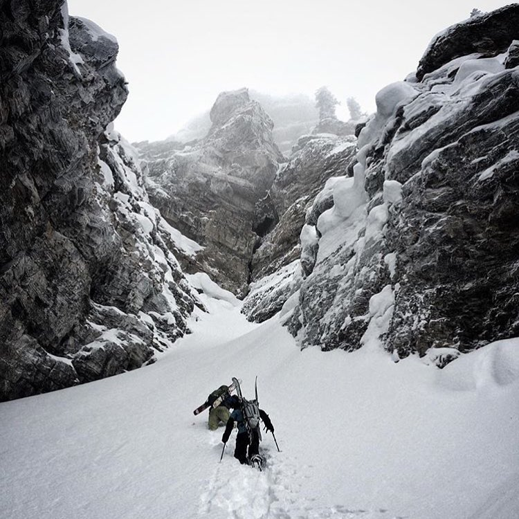 @youngdorian on the search deep in the Tetons. #avalon7 #liveactivated #skiing #followthestoke www.avalon7.co