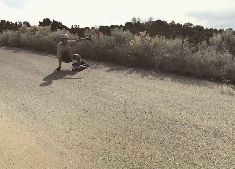 our dude @zion_bruce laying one down in the Southwest on his #caliber50 trucks. photo @zwxlf