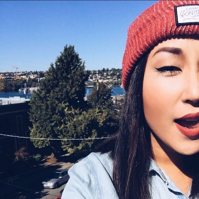 #ShoutOutSunday this week goes to @erica.matsuda again! Killin' it with the Buckshot Beanie.  Remember, if you want a shoutout, tag us in your photos! We love to see our stuff on you beautiful people!  #sos #concretenative #sk8life #skatelife...