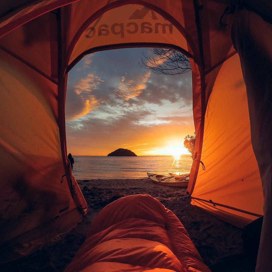Photo of the Day! The early bird gets the #GoProAward! @barekiwi nabbed $500 for capturing a stunning #sunrise from his sleeping bag. Nice work! Get in on the #GoProAwards action by submitting via link in our bio. #GoPro