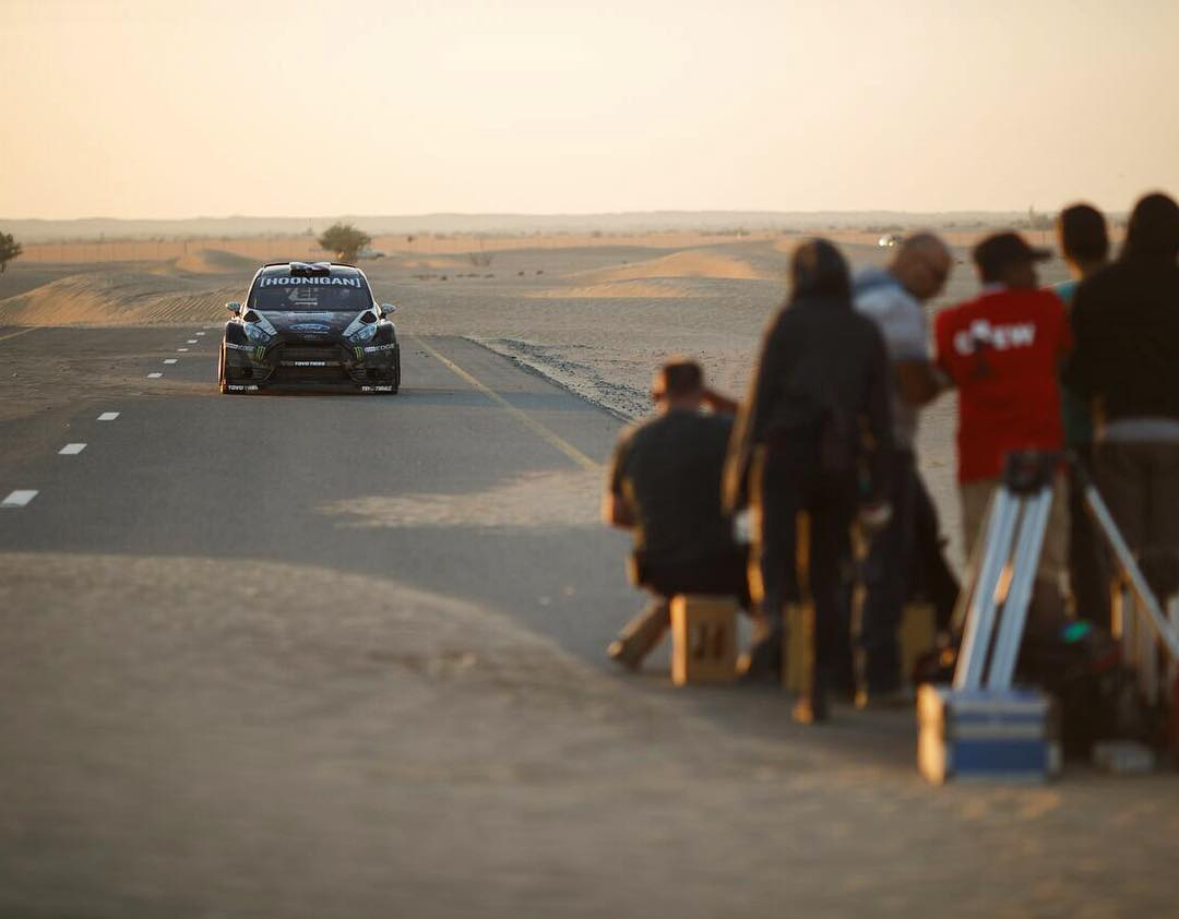 In the beginning of #GymkhanaEIGHT, you'll see a lot of sand-covered stretches of highway. We didn't put that there, that's all natural. And it's wild to see in person. In Dubai, the desert is constantly trying to take over everything from buildings to...