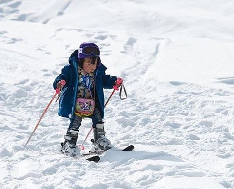 "Regram from PHGB athlete, @lexidupont. ""This little girl is determined!! Her name is Mahari, she is 5 years old and she is the first girl to ski in Arslanbob. She works hard for it; It's not like she can drive to the ski hill and hop on a chair lift...."