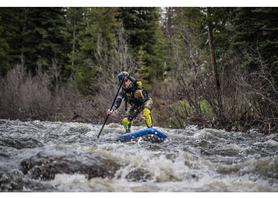 @heyandrewsmith paddling the Elk River on the #halahoss!