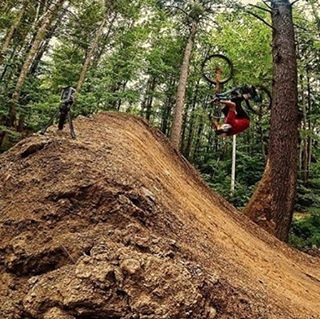 "Flip into a new week with @aaronchase ""Open loop tree flip // looks wild but nailed it first try!"" So RAD! Photo via geoffgulevich #gopro #SixSixOne #661Protection #ProtectFun #Repost"