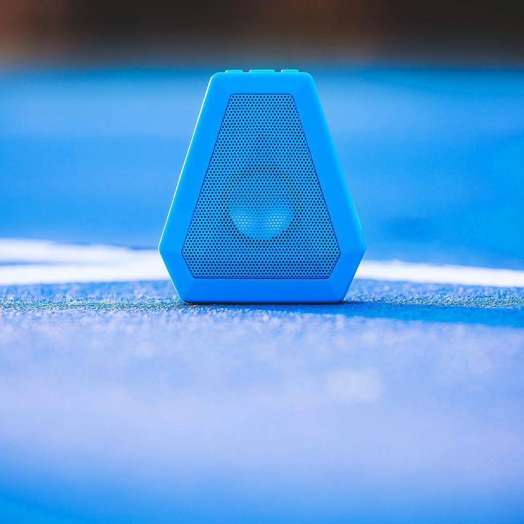 The Boombot Mini in Pacific Blue  Use the link in our profile to get yours #Boombotix #portablespeaker #bluetoothspeaker #essential #audiophile #design #essential