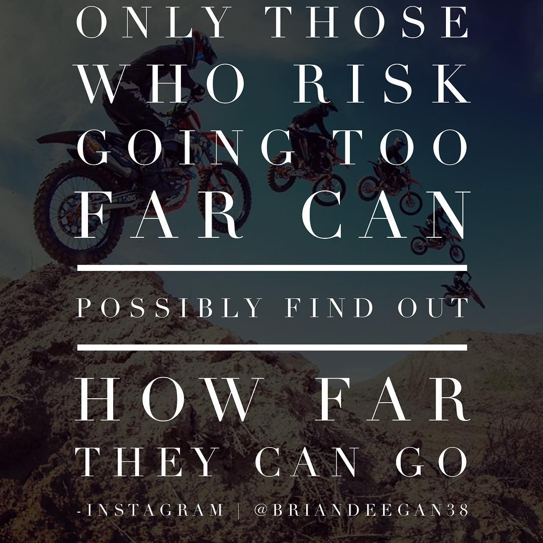 Only you can set your limits and how far you can push pass them each day. #Deegan38 #motivationmonday
