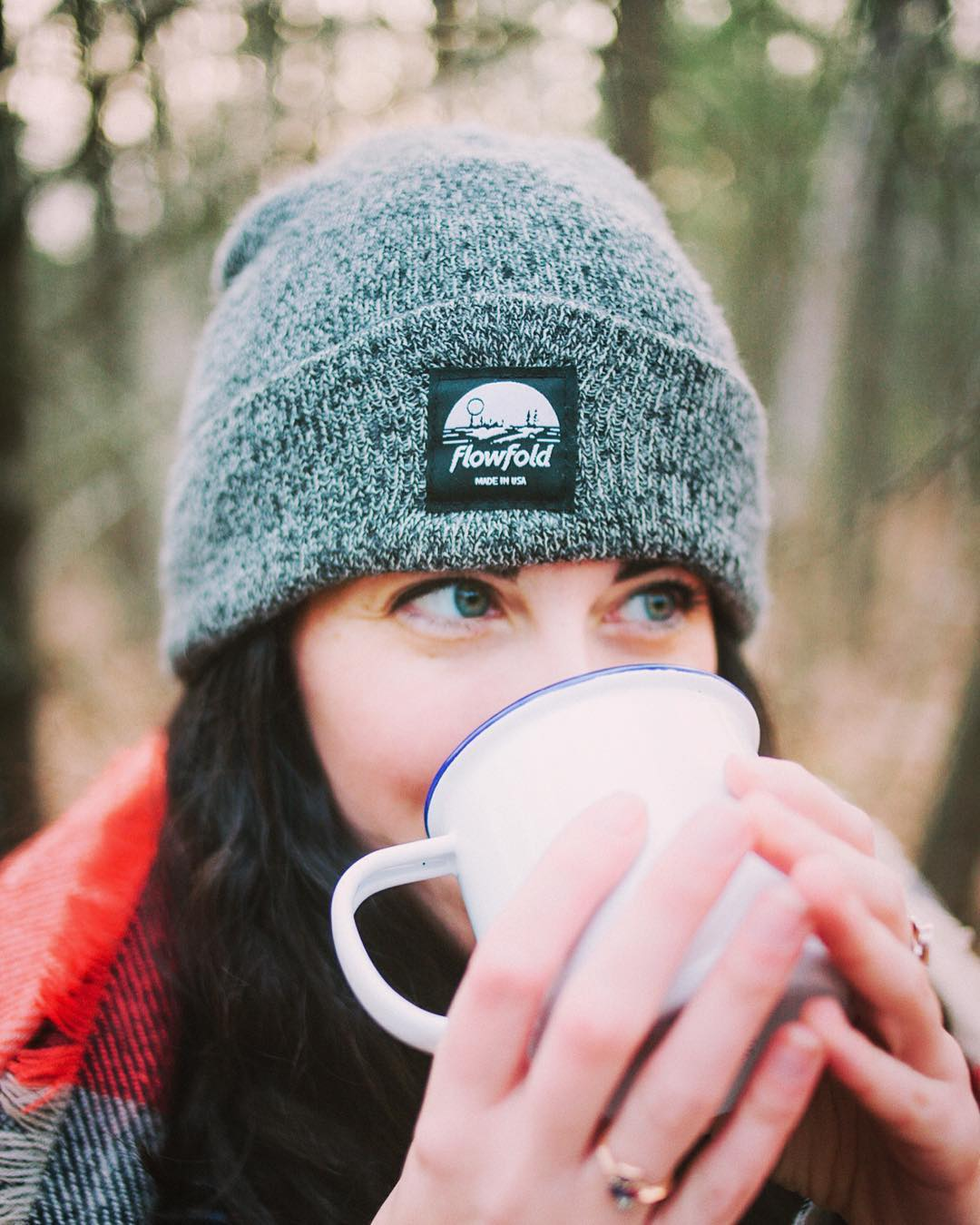 To create the #Flowfold Island Icon beanie, we meticulously studied the science of cozy. We have determined that wearing this warm cap feels something like two puppies snuggling in a blanket while sipping a spiced chai latte on your head. #ReallyCozy...