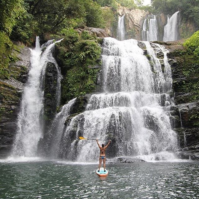 """Adventure is a state of mind..."" -Alastair Humphreys @natalizollinger at Nauyaca Falls, Dominical Costa Rica"