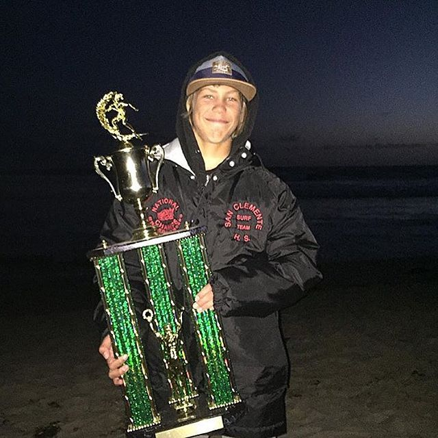 Congrats to @davideconomos for winning the @nssasurf State Champs for San Clemente High School yesterday.