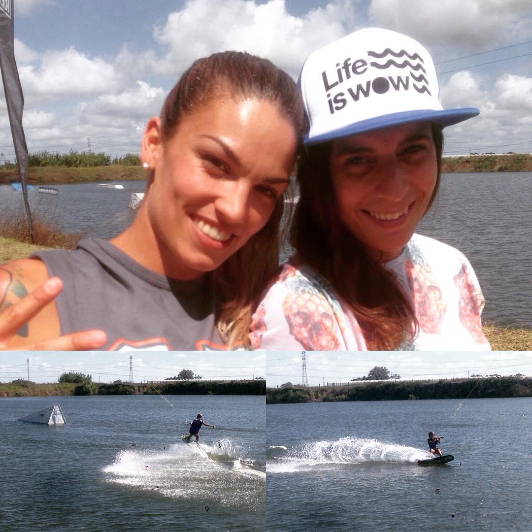 Nuestras wilders @johat79 y @yaael.garcia en el Campeonato de Wakeboard que se llevó acabo en el @infiniteridecableski de Rosario! Como Joha muestra #lifeiswow  #livewildonwater #livingwowstyle #lifestyle #wakeboard