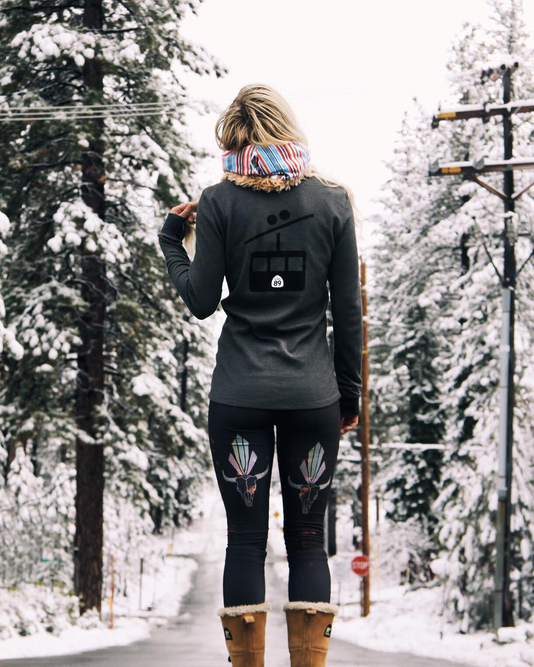 Tahoe babe @sunnyyddee is ready for snow in our gondola thermal (shop: link in profile). #CA89 #CA89Ambassador