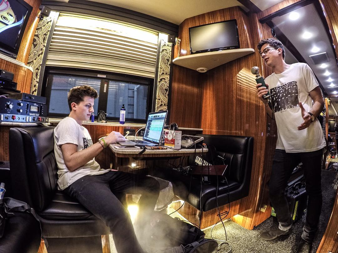 """@charlieputh hanging post show with @charlieputh.  #GoPro ambassador @mishavladimirskiy's latest edition of his series """"My Own Devices,"""" where he photoshops celebs and musicians hanging out with themselves. Head over to his page to check out his..."""