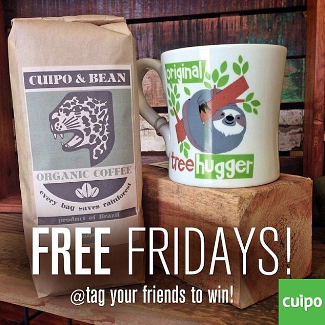FREE FRIDAY!!!! Tag friends in the comments to win 1 lb of the freshest coffee on earth and a sweet Cuipo Sloth mug. #cuipocoffee #cuipo #saverainforest