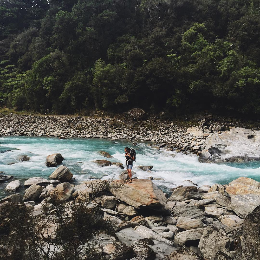 Splorin n' stuff. The @backpackingbabes wandering about the South Island, New Zealand. The Copland track for those of you who NEED to know everything, jeez. #MHMgear #PacksElevated