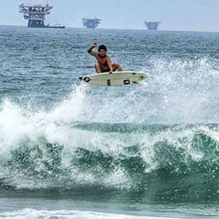 Repost of @segundo_vasquez ripping it in his backyard of Lobitos, Peru!
