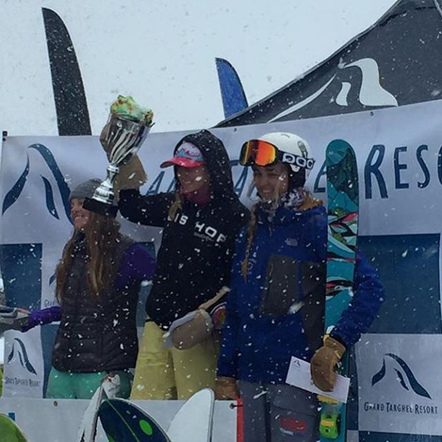 Super stoked for a snowy podium shot from @tele_madi! She earned a 3rd place spot at the @grandtargheeresort big mountain comp this weekend.  Congratulations Madi, keep crushing!  #sisterhoodofshred #skiing #podium #powder #bigmountain #ripping...