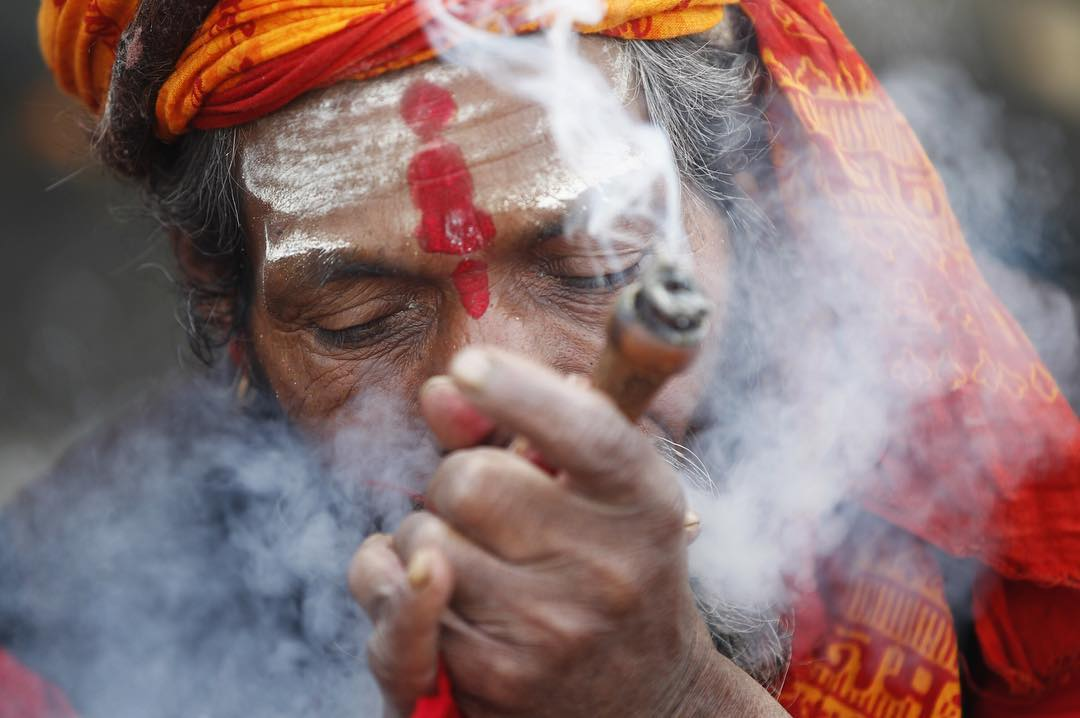 Shivaratri, or the night of Shiva is an annual Hindu festival that took place last night in Nepal and across the world. The ban on smoking chillum or hash/ganja is lifted inside of Pashupathi Temple for sadhus or ascetics as it's viewed in reverence to...