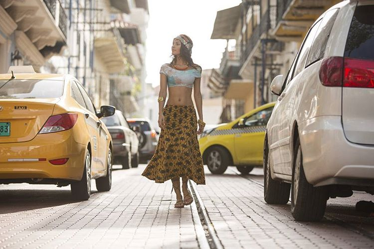 Kelly roaming the streets of panama wearing the new #seeachicama in marble shot by @nick_lavecchia  #myseealife