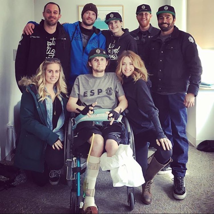 after a severe injury, so good to see our friend @hale_storm09 from the @adaptiveactionsports squad smiling and recovering >>> your passion and drive to overcome life's challenges inspires us! >>> #livebeyondlimits