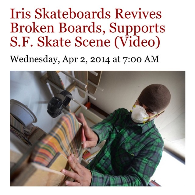 check out @adrianrrodri feature about Iris skateboards in SF Weekly. Well done Adrian!  http://blogs.sfweekly.com/exhibitionist/2014/04/layers_of_iris_skateboards  #recycledskateboards #irisskateboards