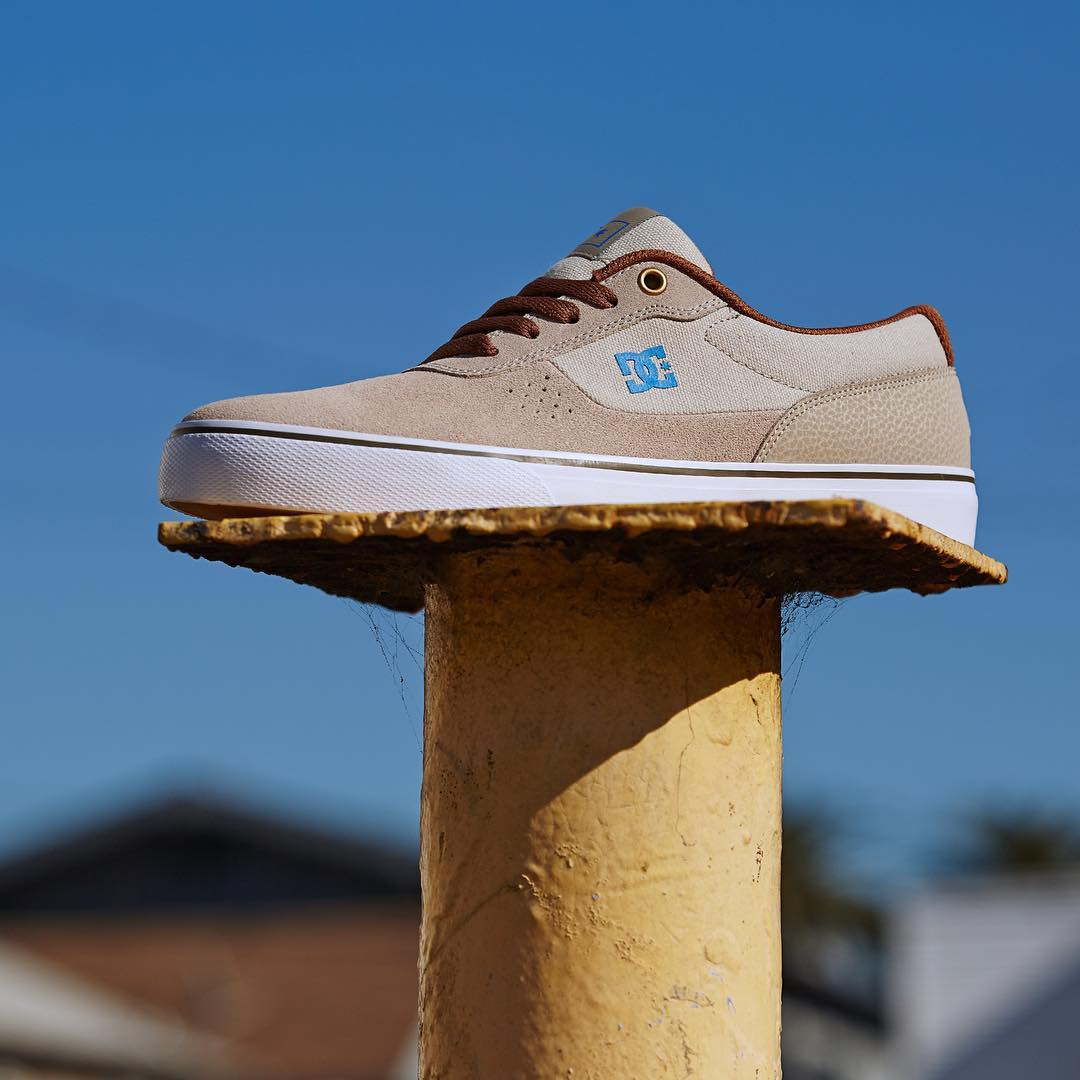 The team favorite Switch S is now available in Taupe SUPER SUEDE at your local shop and dcshoes.com. #DCShoes