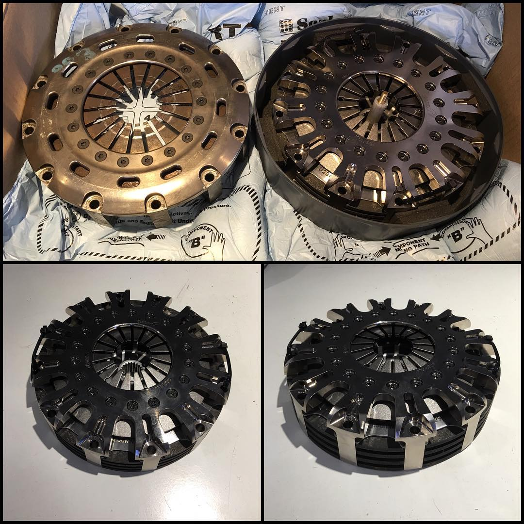 More awesome new 2016 products from @alconbrakes for my @fiaworldrx DS3 RX SuperCar arrived today. This is the new lightweight clutch cover fitted with my top secret spring, inside is a triple plate carbon fibre clutch pack rated to support over...