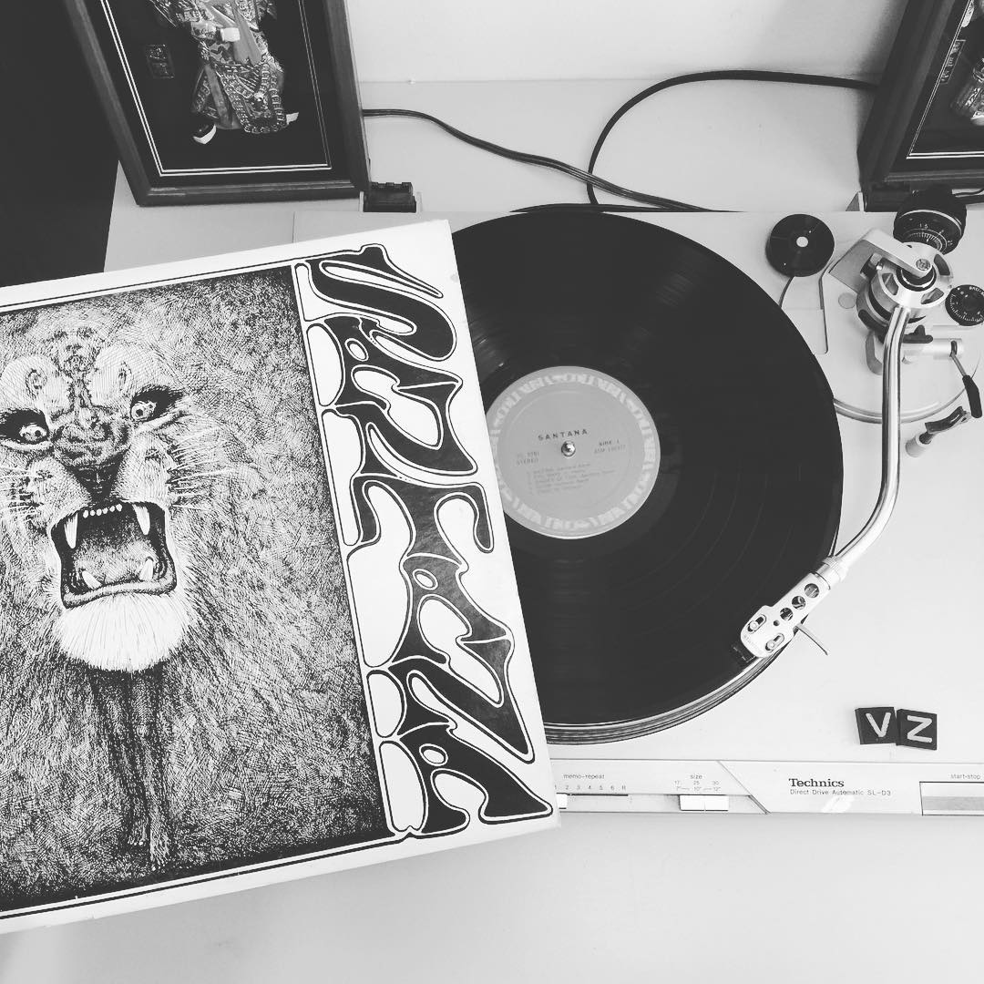 Today we have the groove factory moving for #TurntableTuesday with some hot licks and tasty riffs from the one and only #Santana. #VonZipper #SupportWildLife