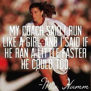 #runlikeagirl This athlete doesn't need much introduction. MIA HAMM has been a force of female empowerment and inspiration for decade as one of the greatest women to ever step on the pitch. She also has her own foundation dedicated to raising awareness...