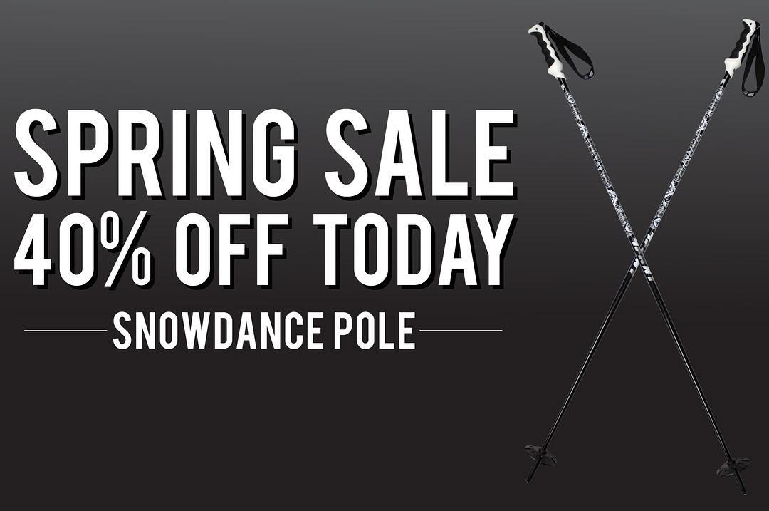 Today's Steal. Snowdance poles are marked down an additional 10% - Enter Code GET4FRNT30 at checkout to receive full 40% off.