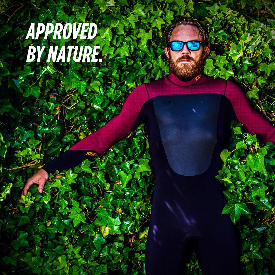Mother Nature approves our Portland Bio-friendly wetsuit and its aqua-based glue. NOTE: the aqua-glue does not come off so watering your plants with the suit is useless.