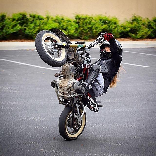 #WheelieWednesday || This lil bad ass @AjStuntz
