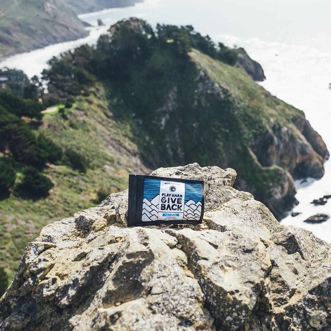 Our Fuel&Flow trail mix exploring California! We want all of you to know that every time you fuel up with our snacks, you are supporting impactful athlete giveback projects!