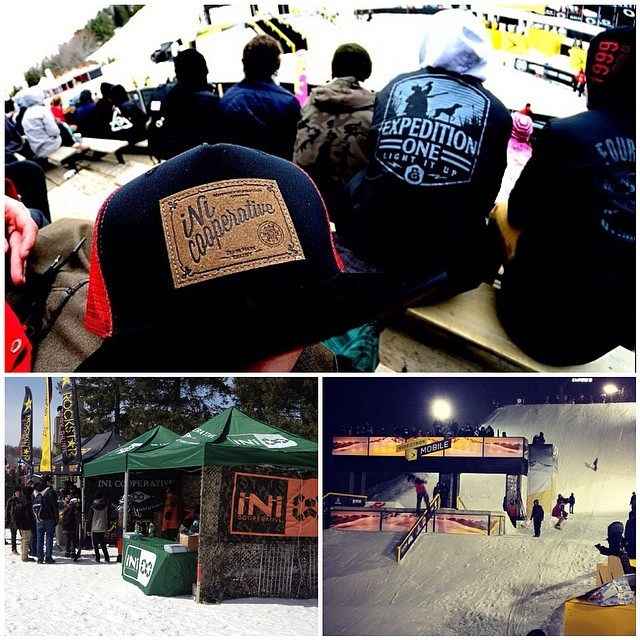 Great 1st day at the 2014 #RideShakedown . Laced tons of kids with product and made many new friends! Come check our setup out, if your here or coming . Rail Jam Finals going down with iNi's @jasondubois @jeremycloutier @lilhefe .