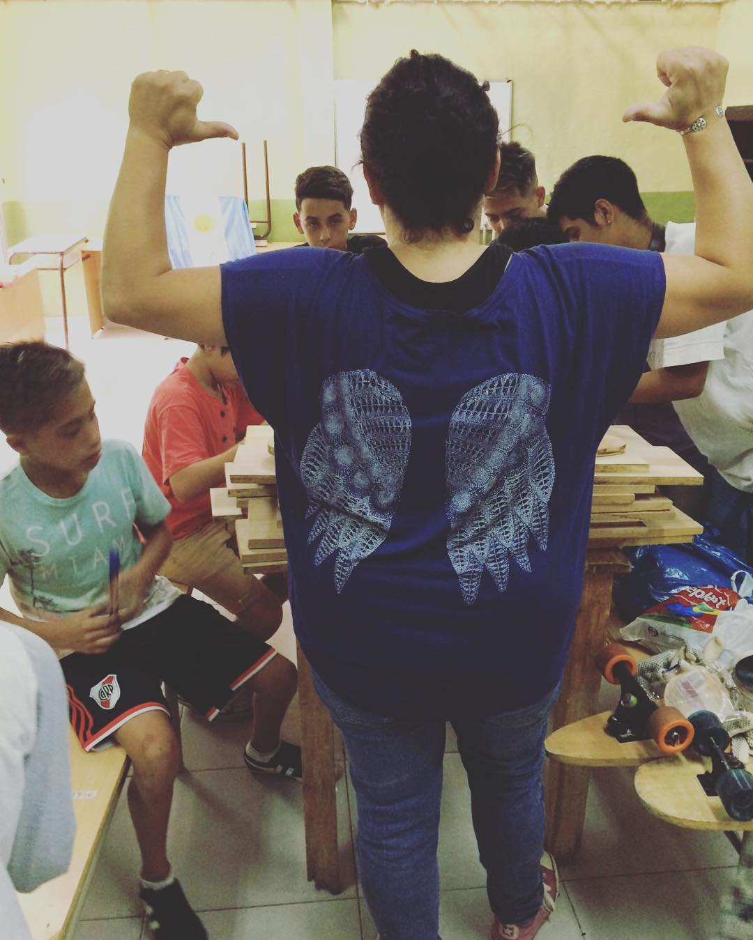 Vino el angel!! Arrancamos #laloma #vicentelopez #deslizate #skate