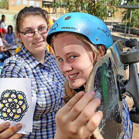 "The youth council of Whittlesea, Australia wants to see more female pro skaters ""So they've organised a project that will have groups of young women painting murals at two local skate parks in the hope a feminine touch will entice more girls."" It's..."