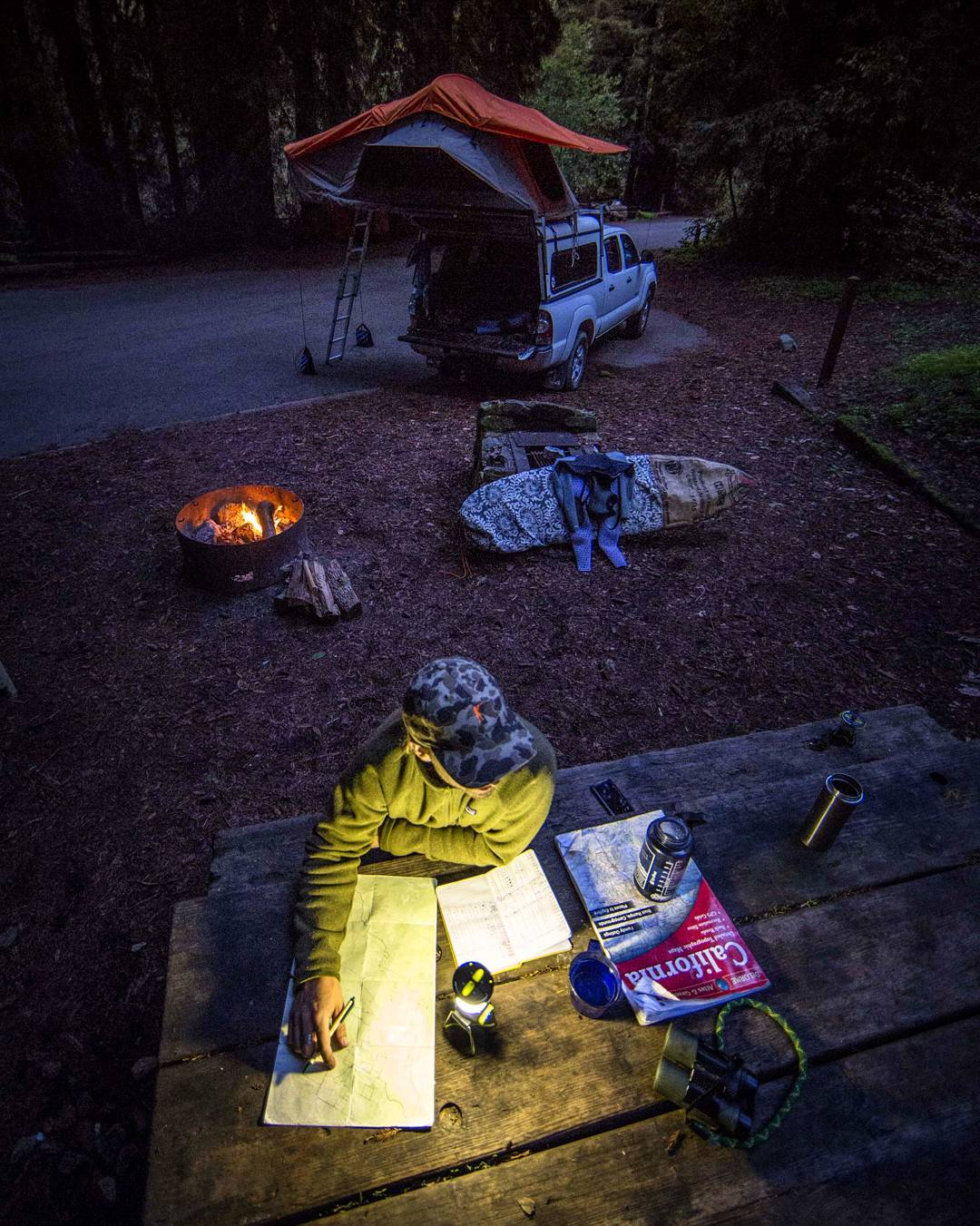 @charles_post and the Lighthouse Mini taking some time in camp to make plans and review notes. #GetOutStayOut
