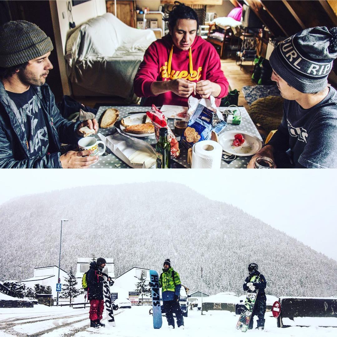Alto primer día de Snowboard en Marzo!! Gracias negro pichuli @ferbarrios_30 por volver a verte después de 4 años que tantas cosas pasaron y nos volvemos a encontrar como cuando eramos unos guachos y le caíamos en Bari a la casa de @mati_radaelli...