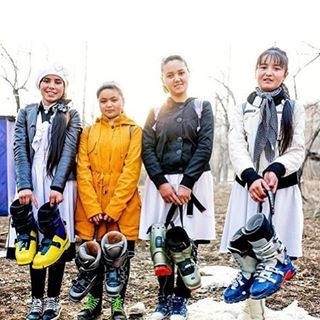 "Regram from @jonmancusophoto: ""Breakthrough in Arslanbob. For the past 10 years, thanks to the efforts of Community Based Tourism (CBT) Director Hayatt Tarikov, the children of this conservative Muslim community have been allowed to ski and snowboard..."