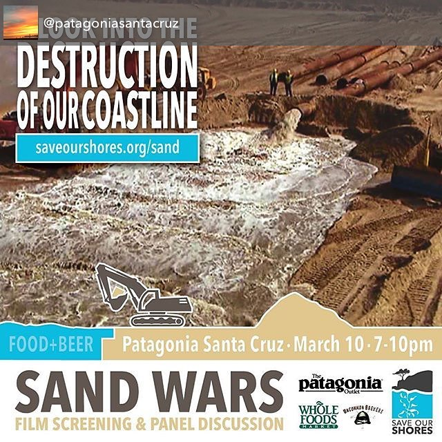 The night before our #soiree event this Friday is also a big deal...if you happen to like healthy sandy beaches Go visit our pals at @patagoniasantacruz to see this important new  flick !