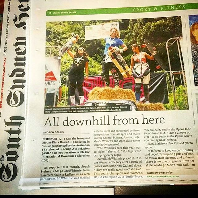 @idfracing's #MtKeira Women's Podium featured in Australia's #southsydneyherald!  Yeah ladies! Killing it at the exposure game