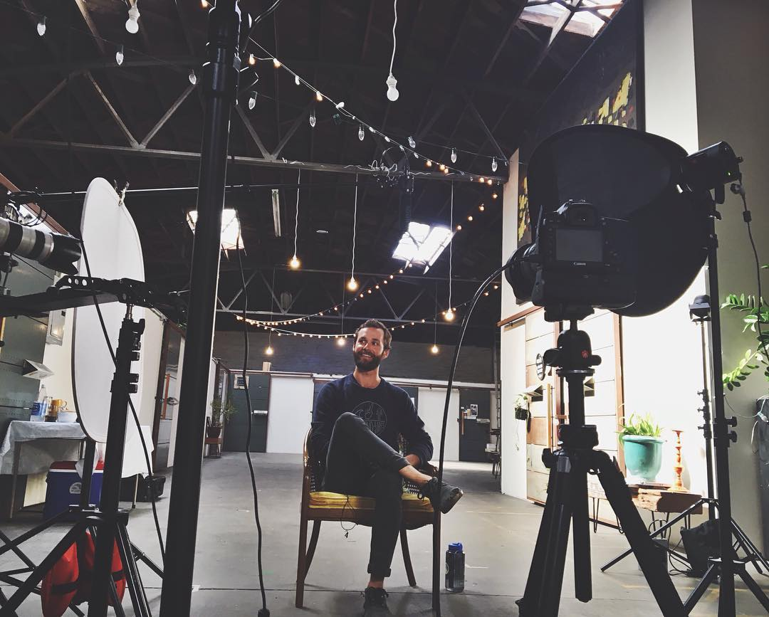 ~ On Set ~  Super fun day shooting with the crew at @weareindiewhip and @falconrelated for the new @factory45 video.  If you're an aspiring designer who holds sustainability and ethics at the forefront of your business, definitely consider joining the...