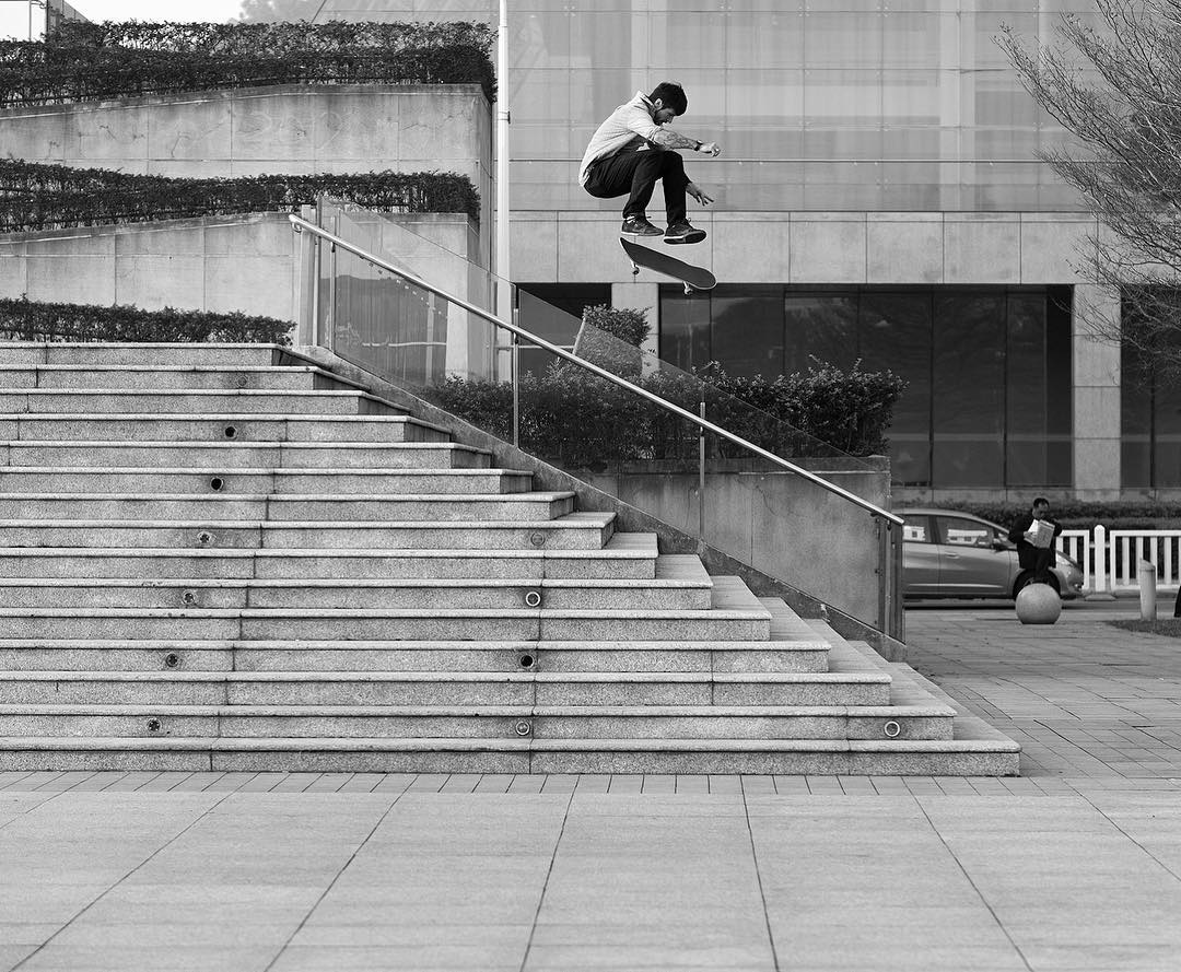 Happy birthday to the legend, @chriscobracole! Hope it's a great one! Switch frontside flip. Photo: @blabacphoto #ChrisCole #DCShoes