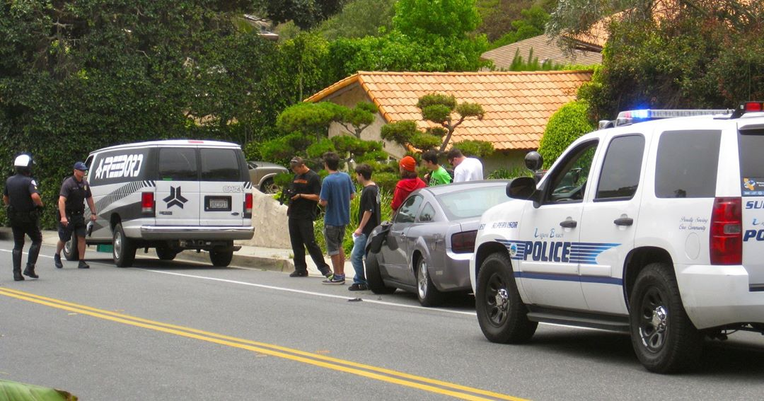When riding downhill it's always wise to watch for cars. It is also wise to watch for cars when you are in a van following people riding down hill. Even parked cars... #TBT circa 2011 in Southern California
